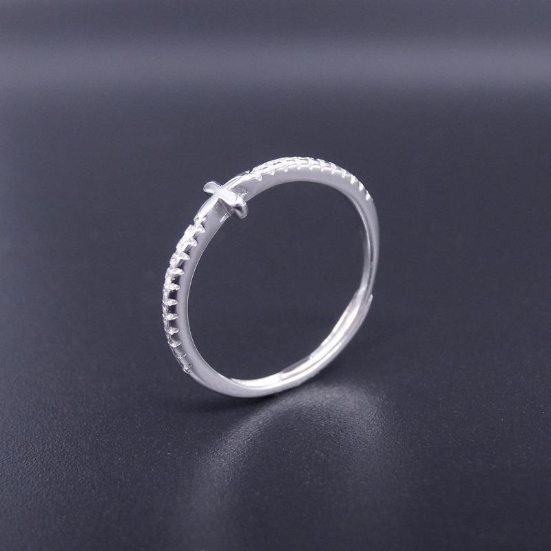 a74c72bd2ee0 anillo mujer plata 925 cruz tipo rosario con cúbic x local ! Cargando zoom.