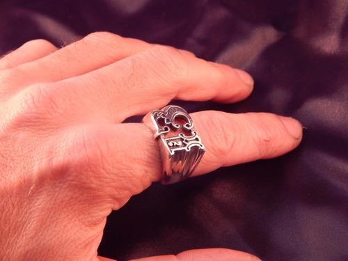 anillo numero 13(motoquero,tattoo) plata 925 (ojo de mar)