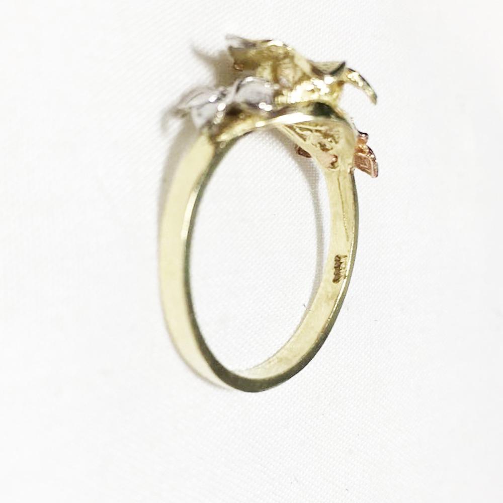 5cbc7f25b634 anillo oro 10k flores estilos florentino dama. Cargando zoom.