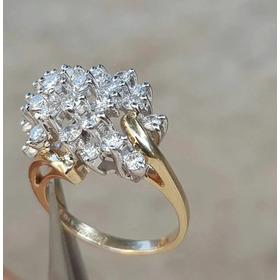 Anillo Oro 14k 2.50 Quilates En Diamantes Naturales Medida 7