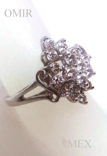 anillo oro 14k diamantes brillantes fino