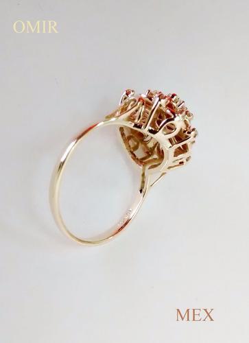 anillo oro 14k  diamantes corte completo brillantes