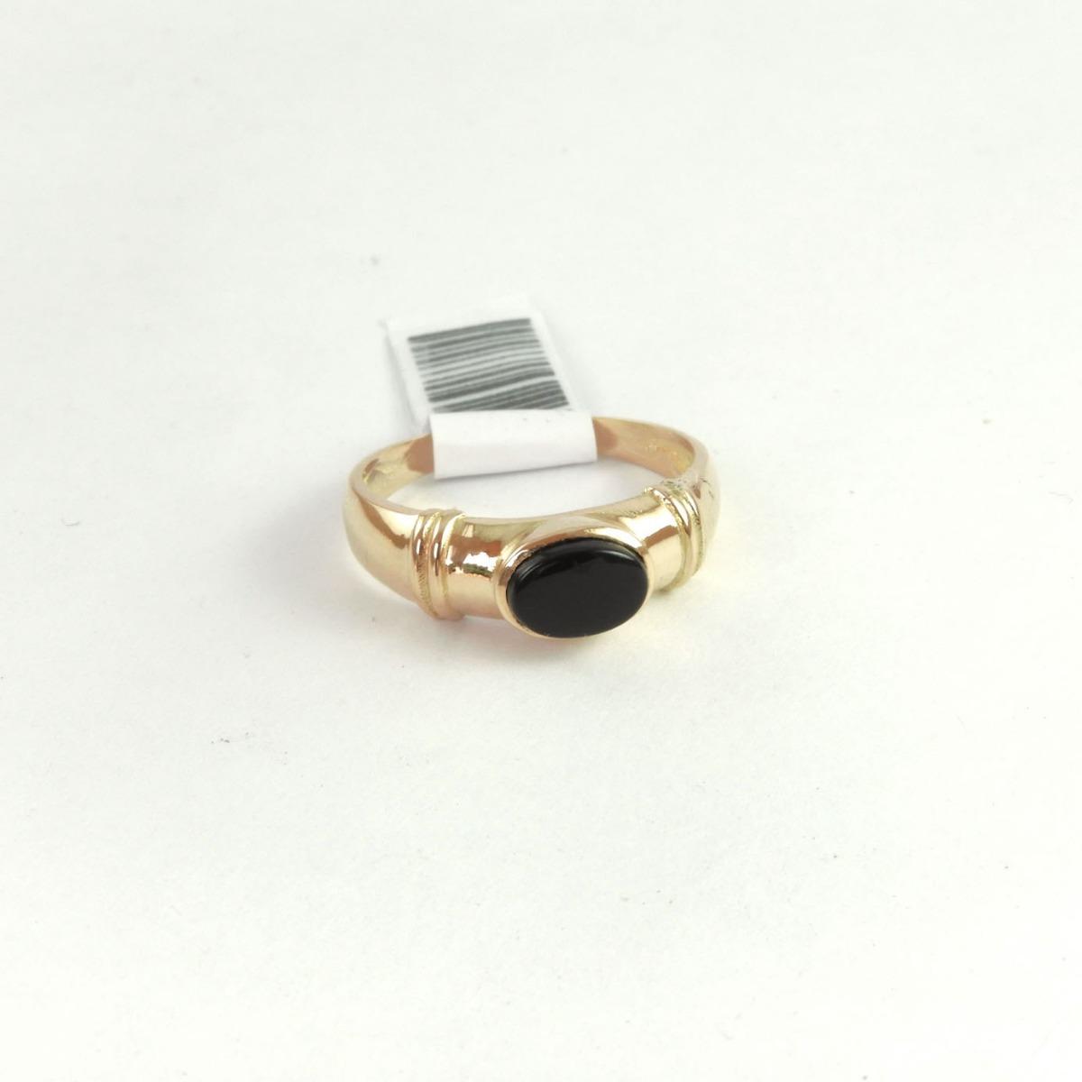 0a369f8edeed anillo oro 18k 3gr con piedra oval negra garantía. Cargando zoom.