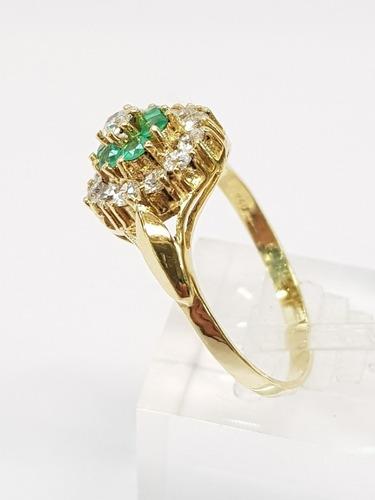 anillo oro 18k amarillo con cubics  4,1grs brumatjoyas
