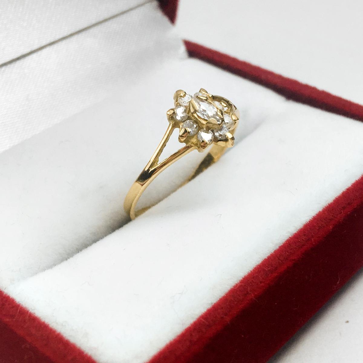 b3aff089e621 anillo oro 18k cintillo roseta con cubics mujer 15 años. Cargando zoom.
