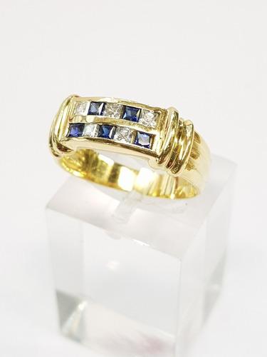 anillo oro 18k doble sin fin cubics 5,5grs brumatjoyas