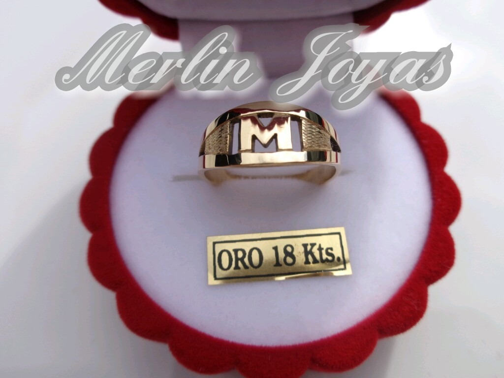 082f98b76d24 anillo oro 18k inicial - 2 gramos - economico - m. j. -. Cargando zoom.