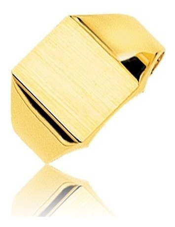 anillo oro 18k- sello rectangular liso- 5 gramos