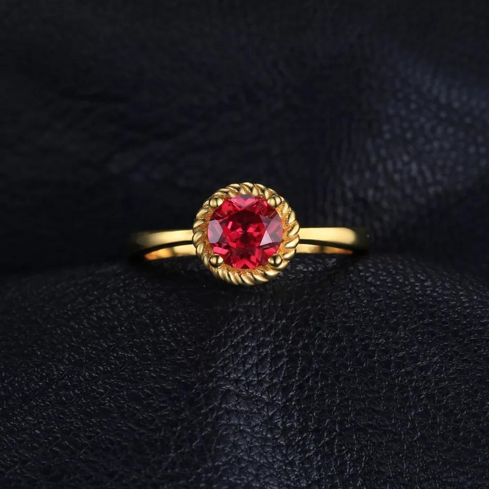 f2eef65a22dd anillo oro amarillo con rubí natural 1.1ct 2.6g. Cargando zoom.