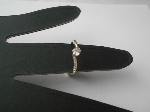 anillo oro blanco 10k