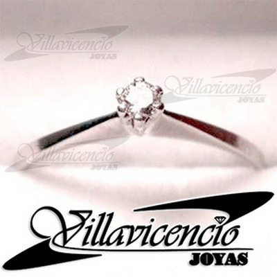 anillo oro blanco 18k 2.5 gr cristales swarovski - cod 7509