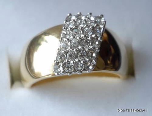 anillo oro circones