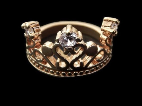 anillo oro con zirconia