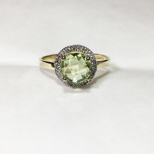 anillo oro con zirconias