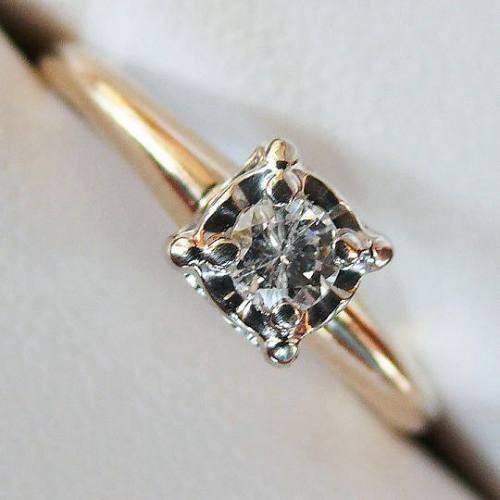 anillo oro diamante