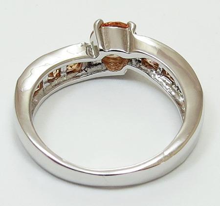 anillo oro gold filled 10k con morganita de 6mm #7