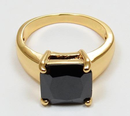 anillo oro gold filled 10k con zafiro de 10x10mm #7