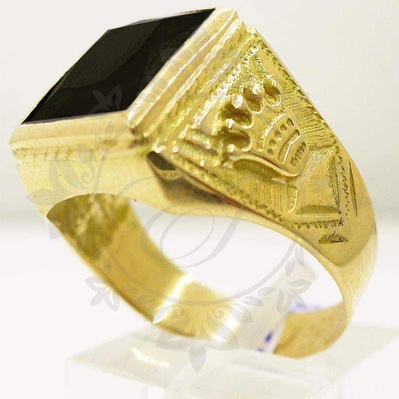 5d313578899c anillo oro hombre corona sello oro corona hombre piedra onix. Cargando zoom.