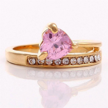 anillo oro laminado 10k con topacio de 7x7mm #8