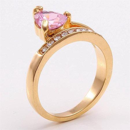 anillo oro topacio