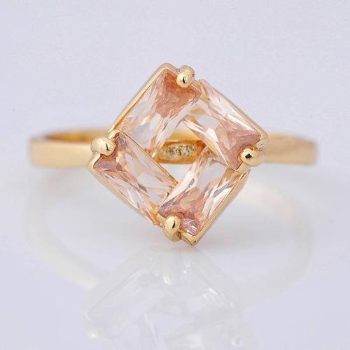 anillo oro topacios