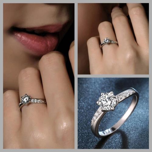 anillo oro zirconias con