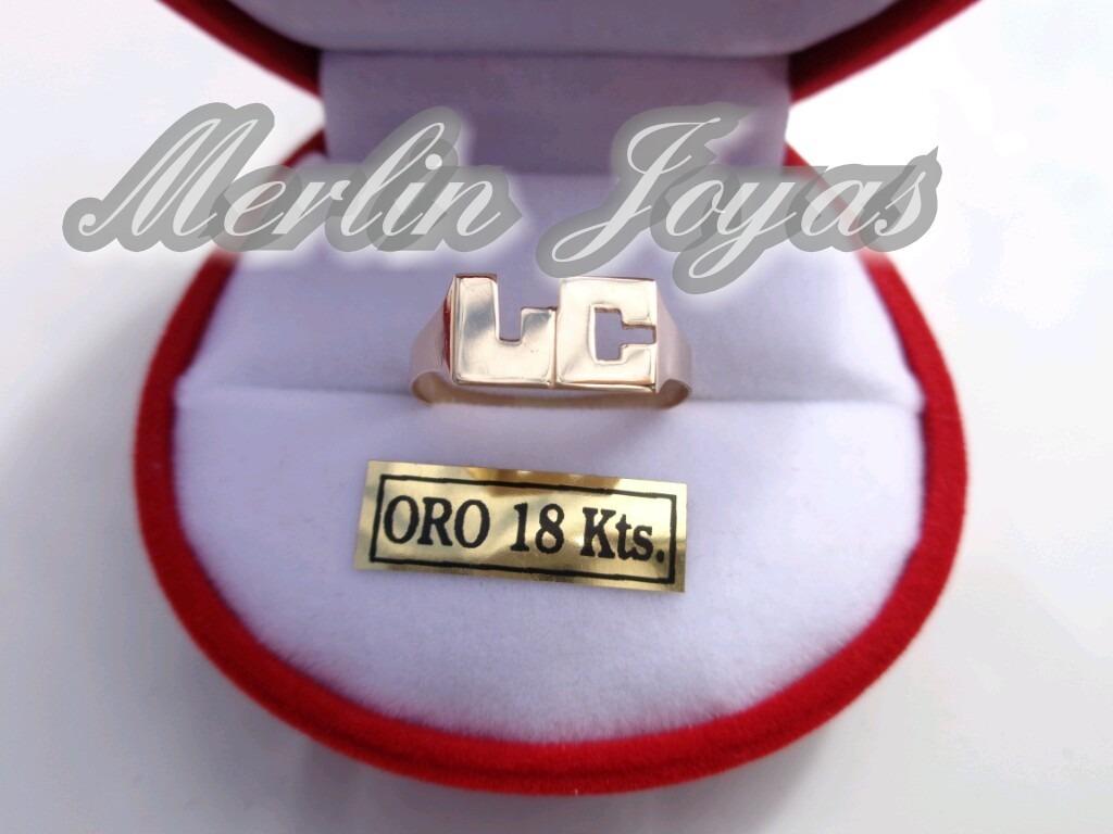 ef3c20ee23be anillo oro18k doble inicial- 2.8 gramos -economico - m. j. -. Cargando zoom.