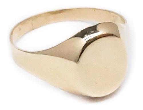 anillo oval oro 18k. para grabar mujer garantia etj estuche