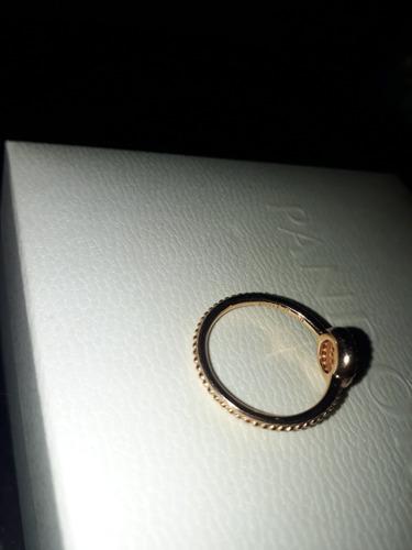 anillo pandora original, color oro,talla aprox. 1,5 cm/2cm