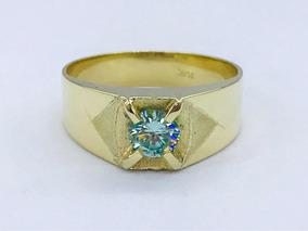 3e95f4f8ae13 Anillo De Oro Piedra Azul Para Hombres Joyeria Anillos - Anillos Oro ...