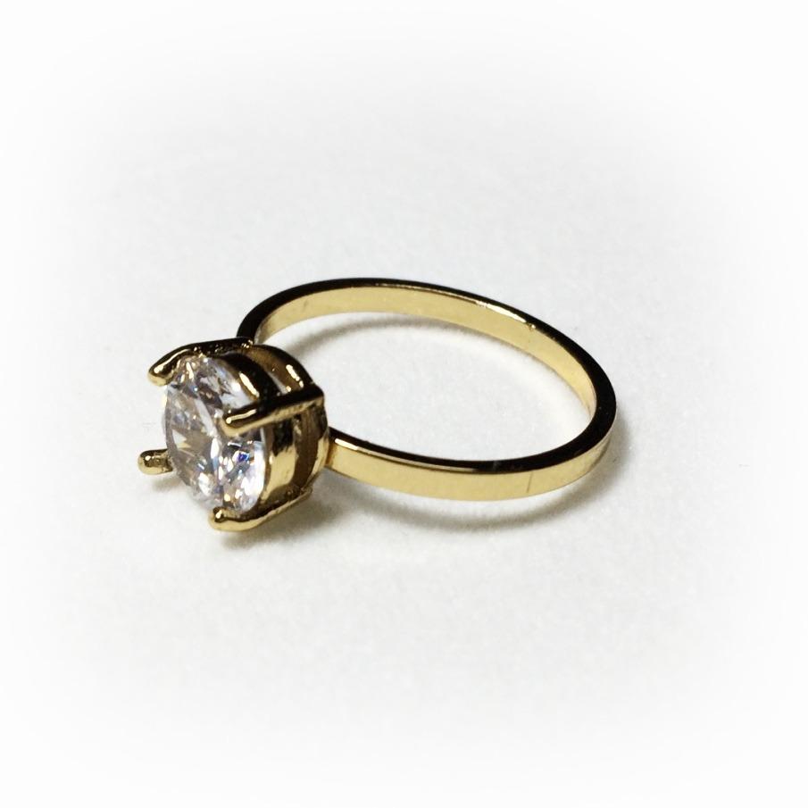 7ec5972afa78 anillo para dama con piedra y baño de oro 18k nice 216035. Cargando zoom.