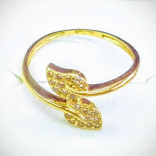 6c114acfd3f6 Anillo Para Dama En Oro Amarillo 10kt Doble Petalo Figura ...