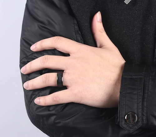 anillo para hombre fibra de carbono carburo de tungsteno