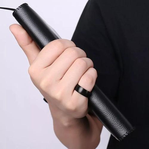 anillo para hombre titanio negro alta calidad y resistencia