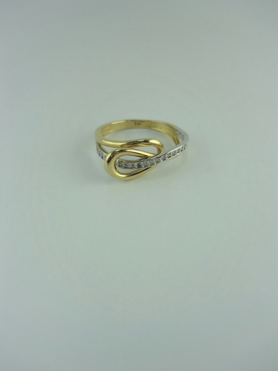 271ff9abab1f anillo para mujer en oro 18k amarillo y blanco ref  27146. Cargando zoom.