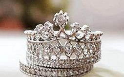 anillo para una reina o una princesa,corona tiara envio grat