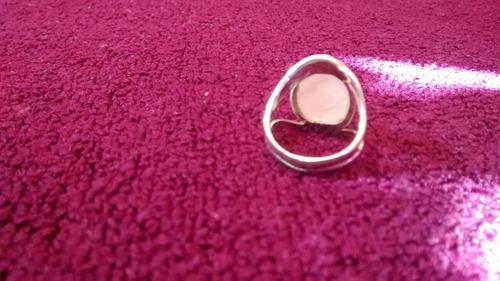 anillo piedra plata