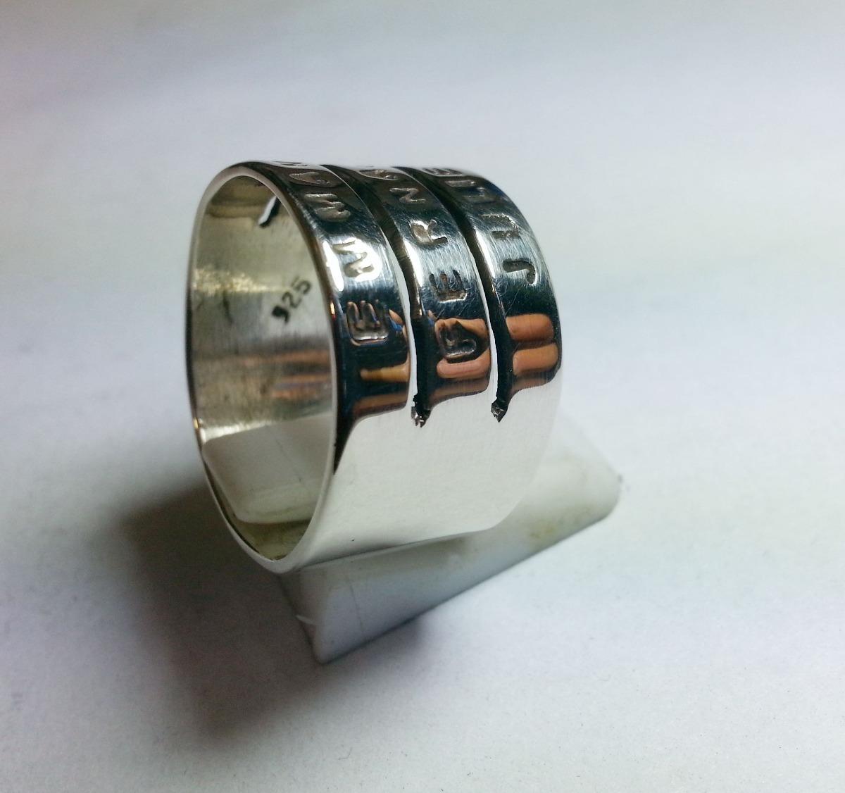 34e5aca20a76 anillo plata 3 nombres frases letras personalizado unico. Cargando zoom.