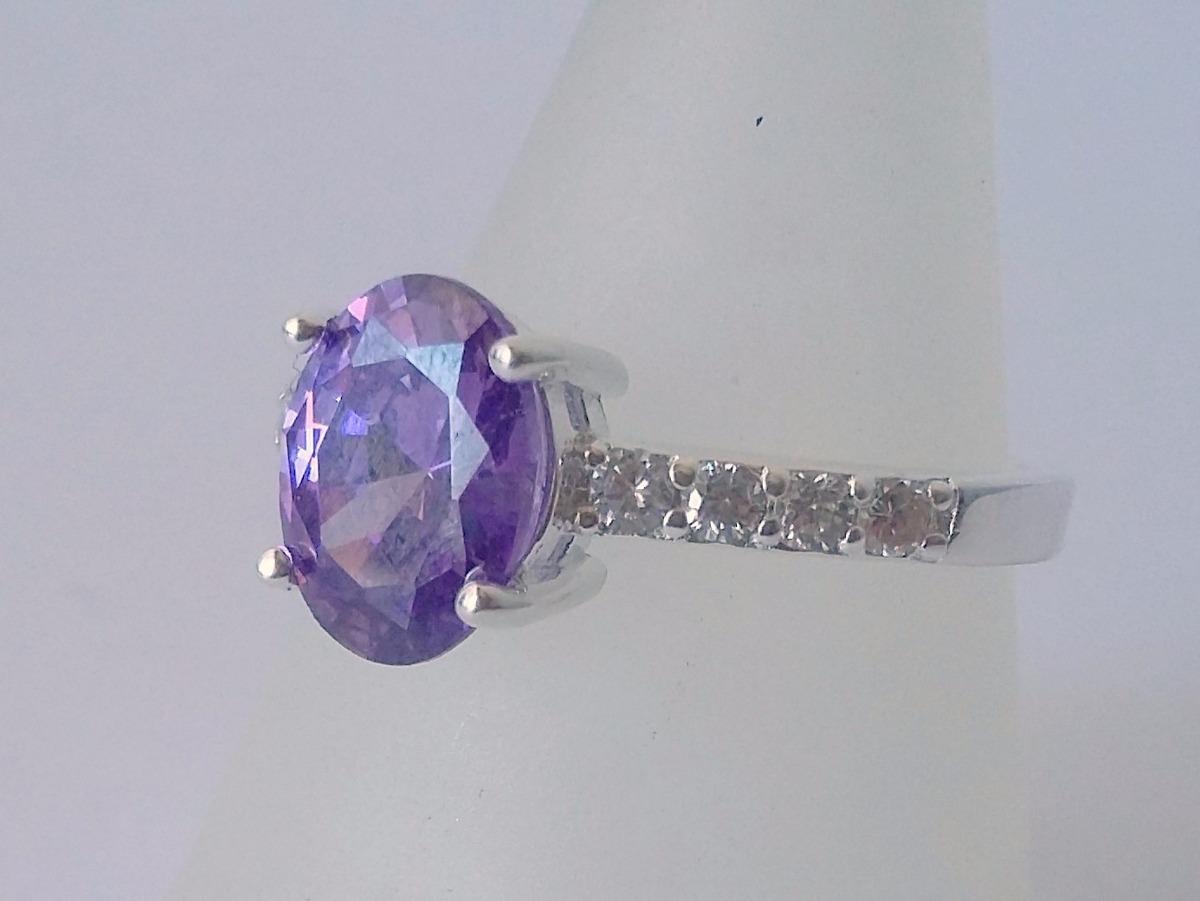 1c0b0ca8487a anillo plata 925 cintillo con amatista y micro cubics. Cargando zoom.