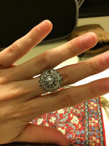 anillo plata 925 con circones