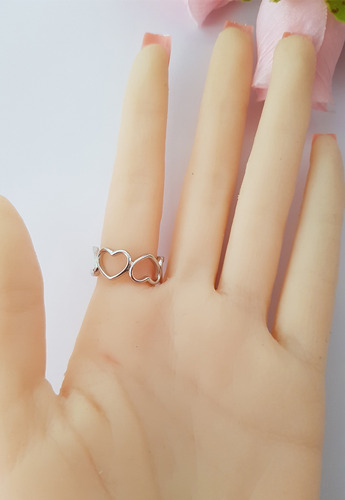 anillo plata 925 corazón amor compromiso