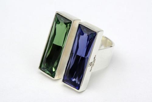 anillo plata .925 cristal swarovski