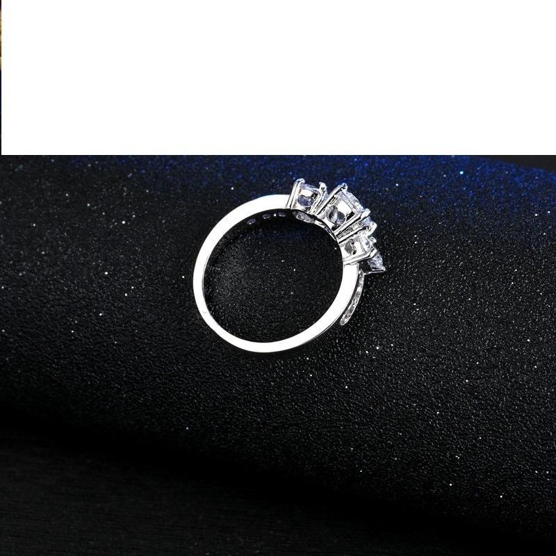 98dbcd5b3186 Anillo Plata 925 Cristales Blancos Compromiso Msi -   299.00 en ...