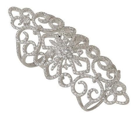 anillo plata 925 y cubics articulado doble mod. 10268