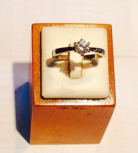 anillo plata circon
