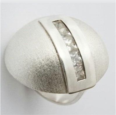 anillo plata circón