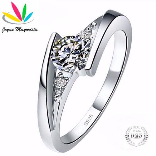 anillo plata compromiso,tallas 8 y 12/envío gratis