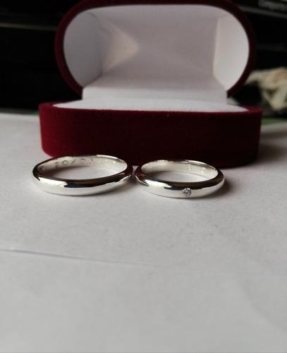anillo plata con circon,