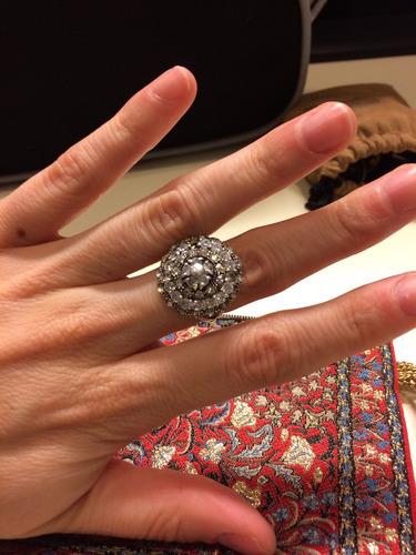 anillo plata con circones
