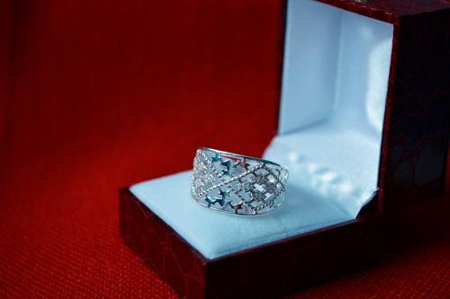 anillo plata con diseño para mujer (aros,dkny,pulseras)